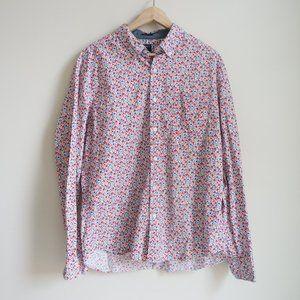 J Crew XL Button Up Floral Blouse - Slim Fit